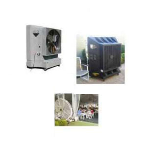 Evaporative outdoor coolers use for outdoor cooling in dubai
